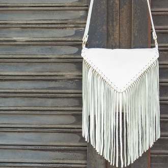 JJ Winters 395 Emma Messenger Fringe Bag