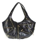JJ Winters Multi Zipper bag in Black Leather as seen on Nicky Hilton and Halle Berry