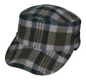Grace Hats Toto Plaid Flannel Cap