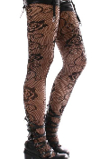 Keira's Favorite Black Climbing Rose Vine Lace Tights