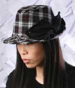 Grace Hats Romi Plaid Big Bow Fedora