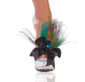 Shoe Adornments for Peacock Costume