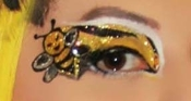 Bumble Bee Eyes self adhesive body art from Xotic Eyes