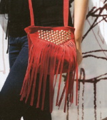JJ Winters Style #348 Studded Fringe Bag