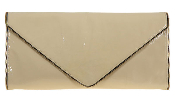 JJ Winters #226Z Envelope Clutch with Zipper Edging