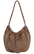 JJ Winters #354 Ruched Hobo Bag with Studs