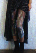 Gypsy Junkies Silver Mesh Leggings