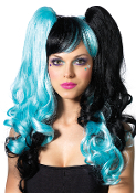 Leg Avenue Split Long Curly Wig with Pony Tails