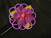 EL Wire Felt Flower Body decoration and fashion accent