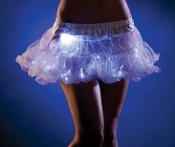 Raveware White Short Length Light-Up Petticoat