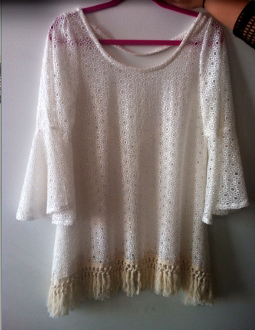 Gypsy Junkies Mimi Tunic in White Eyelet Lace