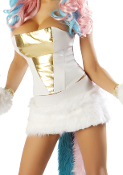 J Valentine Unicorn Fur Skirt and Corset