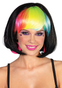 Leg Avenue Pop Rainbow Bang Bob Wig