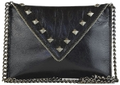 JJ Winters Andi Crossbody Bag with Zipper and Stud Detail style 410