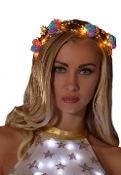 J Valentine Light Up Woven Branch Flower Crown
